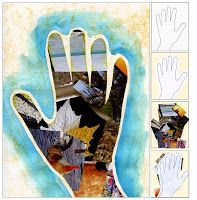 """Art Projects for Kids: """"My Hand"""" Collage"""