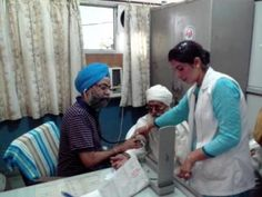 Ludhiana, June 23, 2013: About 250 patients were examined at a free heart and medical camp organised on Sunday by Dr. G. S. Wander, Chief Cardiologist and Coordinator, HDHI led the team of doctors and technicians from the Hero DMC Heart Institute which also included attending physician Dr. Rohit Tandon aand Dr. Rakendra Singh at Nanaksar Gurudwara Hospital, Jagraon.