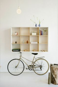hall storage, with space for bike