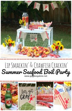 Summer isn't complete until we've hosted or attended a Summer Seafood Boil. Get ready for a lip smackin', crawfish crackin' good time! #summerparty #summer #seafoodboil #partyideas #diyparty