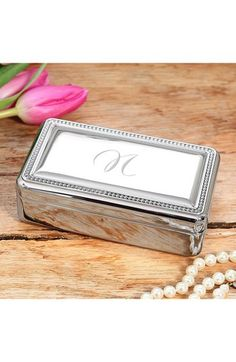 CATHY'S CONCEPTS Monogrammed Jewelry Box available at #Nordstrom