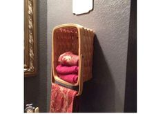 Bathroom Basket towel holder