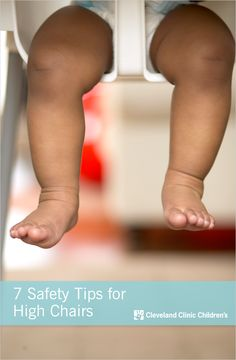 Tips to prevent falls and other injuries in #highchairs and #booster seats.