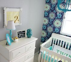 10 Swoon-Worthy Palettes for Navy Nurseries: Navy, Teal & Aqua