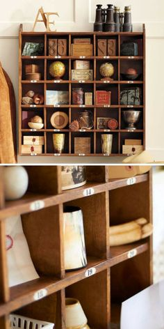 Cubby Organizer. The front-desk organizers used in hotels inspired this home-sized version for office or kitchen storage and display. #potterybarn #homedecor #ad