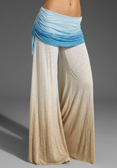 YOUNG, FABULOUS & BROKE Sierra Ombre Pants in Sky at Revolve Clothing - Free Shipping! $132.00