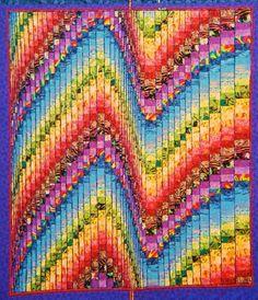 """Quick Bargello Quilt Pattern   Thread: What is """"half strips"""""""