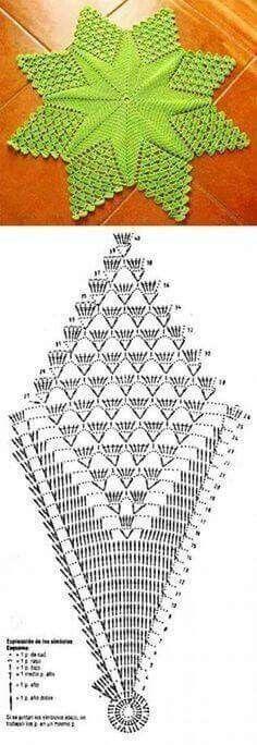 "Centro de mesa ""Estrela"", em crochê com gráfico [] # # #Crochet #Doilies, # #Knitting, # #Tablecloths, # #Carpets, # #Crochet, # #Tissue, # #Points, # #Tables"