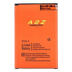 A2ZTech-Battery Replacement With Flex Cable for Samsung Galaxy Note 3 [3200mAh] Li-ion Battery for Galaxy Note III (For the: N9000, N9005, N900V, N900T, N900A, N900P)  https://topcellulardeals.com/product/a2ztech-battery-replacement-with-flex-cable-for-samsung-galaxy-note-3-3200mah-li-ion-battery-for-galaxy-note-iii-for-the-n9000-n9005-n900v-n900t-n900a-n900p/  ABOUT OUR BATTERY: The 3200mAh Li-ion polymer battery is equipped to fit your model Samsung Galaxy Note 3 and bring