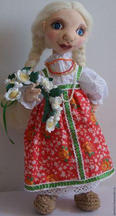 Купить Забава - русская красавица, венок из цветов, сарафан в пол, косы, лапти, хлопок, трикотаж Harajuku, Style, Fashion, Swag, Moda, Fashion Styles, Fashion Illustrations, Outfits