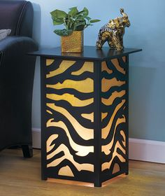 Would be a great night stand...if only they had cow print.