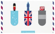 """Magnetic bookmark """"London"""" by Moses Verlag"""