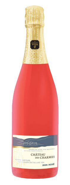 A delicious traditional method rose sparkling from Chateau des Charmes in Niagara. Juicy, with red berry and orange citrus fruit. Yum