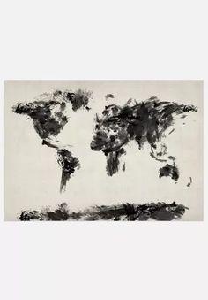 World Map - Dark