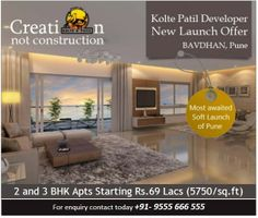 Kolte Patil Developers launch a new residential Project Kolte Patil New Launch Bavdhan which is located at Bavdhan, Pune.   Get More Info (+91) 9555666555
