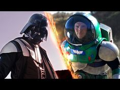 Buzz Lightyear and Darth Vader Face Off in an Epic Real Life Battle