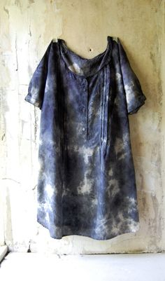 naturally dyed upcycled cotton shirt tunic