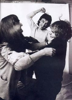 Geddy Lee, Neil Peart and Alex Lifeson (otherwise known as Rush) reveal their decidedly true and goofy-ass selves during a riotous photo shoot.