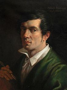 2/14- Birthday of Walenty Wańkowicz, Belarusian painter, 1800-1842. Self portrait.