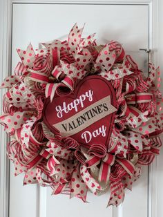Valentineu0027s Day Wreath, Heart Wreath, Valentineu0027s Day Decor, Valentineu0027s  Day Decorations, Valentineu0027s Day Wreath For Your Front Door. By ...