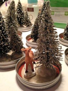pink cupcake vintage: DIY: mason jar snow globe