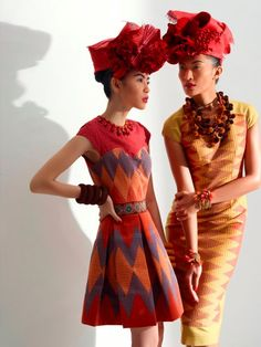 Love the styling! - Advina Ratnaningsih and Vien Febrina by Nurulita for Priyo Oktaviano