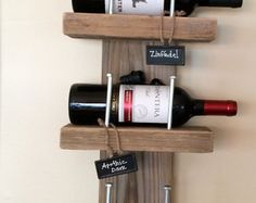 Extra Wide Grand Traverse Rustic Wine Rack by GreatLakesReclaimed