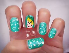 Reto Cartoon Network ~Los supersonicos~ freehand drawing  Sensinity 02 Pueen 44 nails stamping Yes Love C10