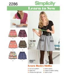 Simplicity Pattern 2286-Learn To Sew Misses Skirts Pants-Sz 6-18, , hi-res Joann