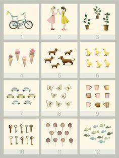 Learn to count to twelve. Point and ask as many questions as you like. This counting poster brings both decoration and learning to the children's room. Buy here! Teintes Pastel, Learn To Count, Eco Friendly Paper, Deco Design, 9 And 10, Your Child, Decoration, This Or That Questions, Holiday Decor