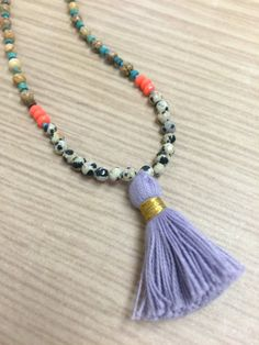Bright Tassel Layering Necklace with by BoarderlineBohemian