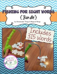 Fishing for sight words is a printable sight word game that allows students to have a little fun while learning. All you need to do is print, cut, staple and play. All six editions (pre-primer, primer, first grade, second grade, third grade and nouns) are bundle together in this download. 315 words are include and are listed.