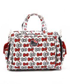 074f334f6792 Ju-Ju-Be Peek-a-Bow Hello Kitty Be Prepared Extra Large Diaper Bag