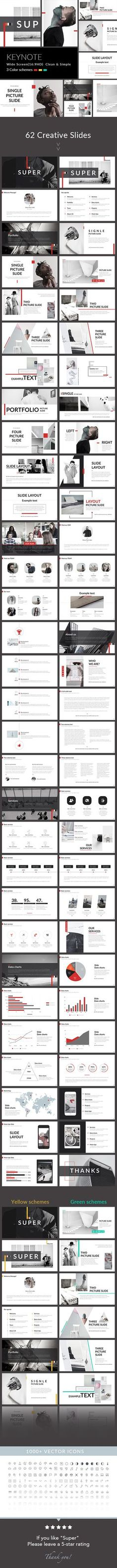 Super - Clean & Simple Keynote Template. Download here: https://graphicriver.net/item/super-clean-simple-keynote-template/16959906?ref=ksioks