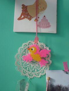 diy Hama birdy,   chart here http://kandipatterns.com/patterns/animals/bird-4846