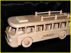 RTO autobus hračka s vypolavaním Wooden Toys, Car, Wood Toys, Automobile, Vehicles, Cars, Autos