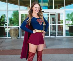 This is Alyssa Contreras as Supergirl of the Cosplay Crusaders spreading smiles for Comicare in Arizona with Charity cosplay.