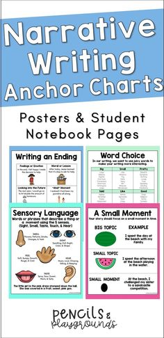Whenever I introduce a mini-lesson or narrative writing skill, I often make anchor charts with my class. However, I wanted clean reading anchor charts that students could reference throughout the year. In this resource, I included various writing posters / writing anchor charts with helpful information such as definitions, sentence stems, or examples. In addition, this resource contains individual narrative writing skills anchor charts that students can color and paste in their notebooks.