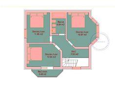 Proiecte de case pe teren de 300 mp. Constructii deosebite Portfolio, Home Projects, Floor Plans, Diagram, House, Houses, Home, Homes, House Projects