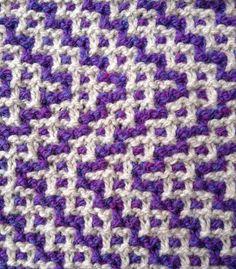 mosaic knit sample for my Pleasant Mountain Fiber Arts Workshop 2015