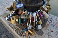 Love Locks on the Ponte Milvio bridge in Rome