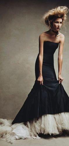 Model: Solange Wilvert wearing Alexander McQueen for Vogue December 2005 by photographer: Patrick Demarchelier