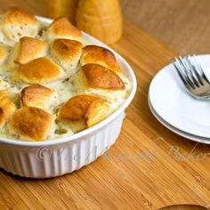 Biscuits & Sausage Gravy Pot Pie - The Midnight Baker