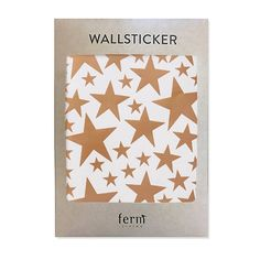 With Ferm Living's decorative Mini Wallstickers, it is easy to create a new look and change the style of a room in a matter of minutes. It is made of vinyl and can be applied to all even and smooth surfaces. Will not stick to rough surfaces, such as brick walls etc.