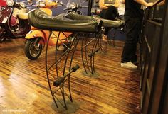 2 up motorcycle seat stools