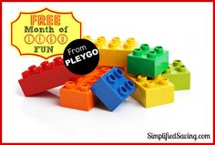 Free 1 Month Subscription to Pleygo (like Netflix for Legos)
