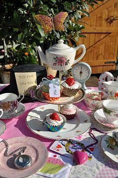 More decor inspiration....dessert centerpieces and favor tea cups.