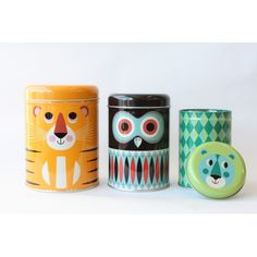 Set de 3 boites Tigre par Ingela P. Arrhenius - Décoration - Perlin Paon Paon