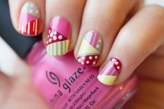 Very cool geometric nails, would probably take a while though...