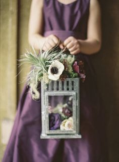 25 Flower-Girl Alternatives to the Traditional Petal Toss For the flower girl instead of petals. Or even the cross display. Flower Girl Bouquet, Flower Girl Basket, Flower Petals, Bouquet Flowers, Purple Flower Girls, Rustic Flower Girls, Winter Flower Girl, Henna Designs, Wedding Bouquets
